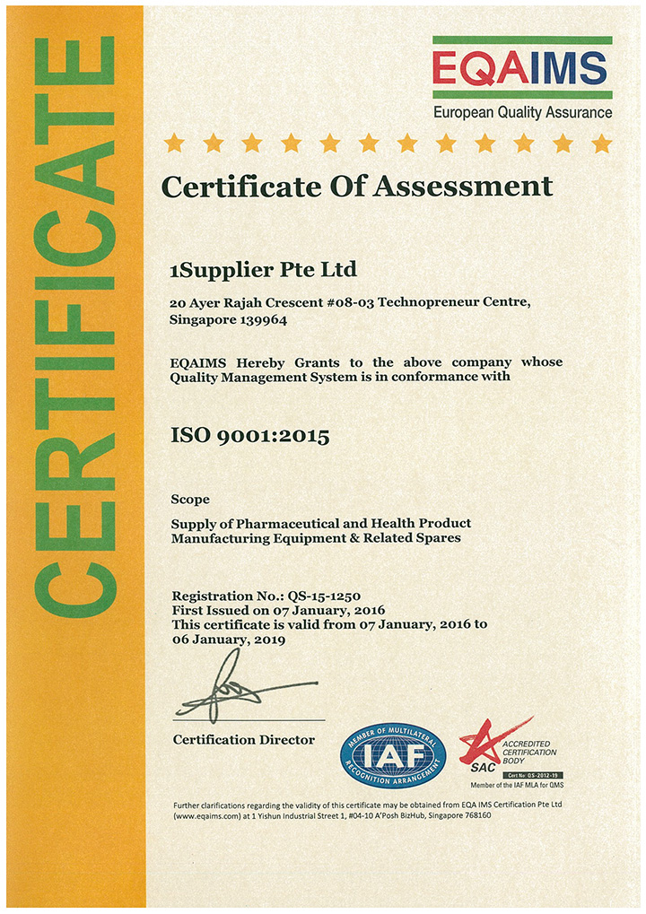 1Supplier_ISO_9001_Certificate_2015